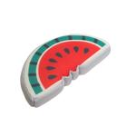 Melone, rot-grau - L: 21 cm B: 11 cm H: 4 cm