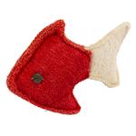 rot - Fisch 14 cm  - rot/weiß