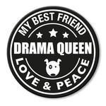 für L-XXL Geschirre - Drama Queen (rund)