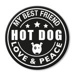 für L-XXL Geschirre - Hot Dog (rund)