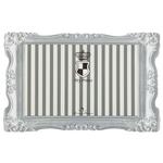 44 × 28 cm, grau/weiß