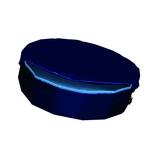blau - Ø120 x 30 cm