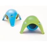 21,5 x 21,5 x 12,5 cm, blau/grün für Hamster und Mäuse