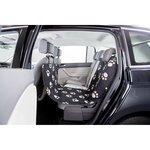 schwarz - halb, Vordersitz, Einzelsitz hinten, 0,65 × 1,45 m, schwarz/beige