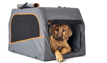Tolle Transporttaschen und Reiseartikel für Hund und Halter. Der Urlaub kann kommen.