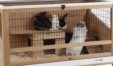 Kleintier Käfige für Kaninchen Hamster Meerschweinchen Nagerheime