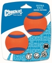 CHUCKIT! Ultra Ball Medium, 6,3 cm, 2er Pack