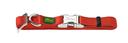 Hunter Halsband Vario Basic Alu Strong Verschluss M: 30-45 cm, 1,5 cm breit, rot
