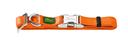 Hunter Halsband Vario Basic Alu Strong Verschluss M: 30-45 cm, 1,5 cm breit, orange