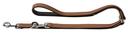 Hunter Hundeleine Canadian aus Elchleder Verstellbare Leine 15 mm breit, Länge 2 m, cognac/schwarz
