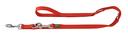 Hunter Hundeleine Nylon 2,00 m, 10 mm breit, verstellbar, rot