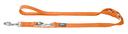 Hunter Hundeleine Nylon 2,00 m, 10 mm breit, verstellbar, orange