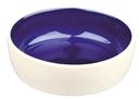 Katzennapf aus Keramik, cremefarben Keramik, 0,3 l/ø 12 cm, creme/blau