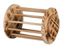 Kleintier Heuraufe rund mit Deckel Holz, geflammt ø 15 × 19 cm
