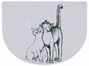 Napfunterlage Schmusekatzen 40 × 30 cm, weiß