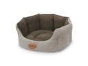 Komfort Hundebett Josi oval 55x50x21 cm, kaffeebraun