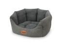 Komfort Hundebett Josi oval 45x40x19 cm, grau