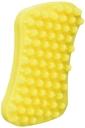 pet+me Reinigungsbürste Massagebürste für Haustiere gelb, 12x6x2,5cm, Hunde mit dichten Haarkleid
