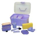 Kerbl Pferde Putzbox für Kinder befüllt lila