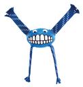 Rogz Grinz Flossy - Hundeball mit Zottel Gr. L – blau
