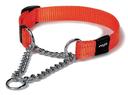 Rogz Utility Obedience Hundehalsband Snake Gr. M: Halsumfang 26 - 40 cm, orange