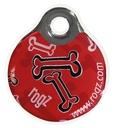 RogZ ID Tag - Adressanhänger S - Red Rogz Bone