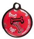 RogZ ID Tag - Metall Adressanhänger S - Red Rogz Bone