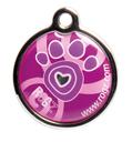 RogZ ID Tag - Metall Adressanhänger S - Pink Paw