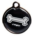 RogZ ID Tag - Metall Adressanhänger S - Black Bone
