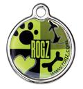 RogZ ID Tag - Metall Adressanhänger S - Lime Juice
