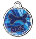 RogZ ID Tag - Metall Adressanhänger S - Navy Zen
