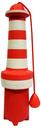 Rogz Lighthouse Hundespielzeug Leuchtturm 25 cm x Ø 7 cm