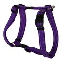 Rogz Utility H-Geschirr für Hunde Nitelife Gr. S: Halsumfang 20 - 34 cm, Brustumfang 23 - 37 cm, lila