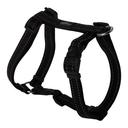Rogz Utility H-Geschirr für Hunde Nitelife Gr. S: Halsumfang 20 - 34 cm, Brustumfang 23 - 37 cm, schwarz