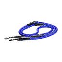 Rogz Rope Hundeleine verstellbar Länge 2 m, Breite 9 mm, blau