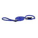Rogz Rope Moxonleine für Hunde Länge 1,80 m, Breite 9 mm, blau
