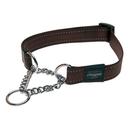 Rogz Utility Obedience Hundehalsband Snake Gr. M: Halsumfang 26 - 40 cm, schoko