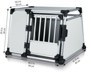 Trixie Hundebox Alubox Autobox für Hunde L: Breite 93 × Höhe 65 × Tiefe 81 cm