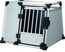 Trixie Hundebox Alubox Autobox für Hunde L–XL: Breite 94 × Höhe 75 × Tiefe 88 cm