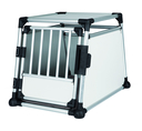 Trixie Hundebox Alubox Autobox für Hunde M-L: Breite 63 × Höhe 65 × Tiefe 90 cm